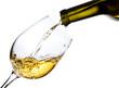 White wine isolated  on white background - 64212084