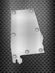 Alabama metal map