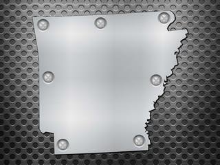 Arkansas metal map