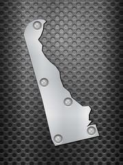 Delaware metal map