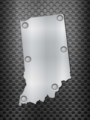 Indiana metal map