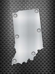 Indiana metal map