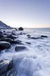 canvas print picture - Küste der Lofoten, Norwegen