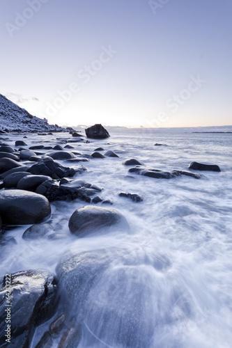 canvas print picture Küste der Lofoten, Norwegen
