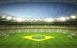 Stadion Brasil Seitenlinie
