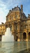 Leinwanddruck Bild - Louvre Palace Fountain
