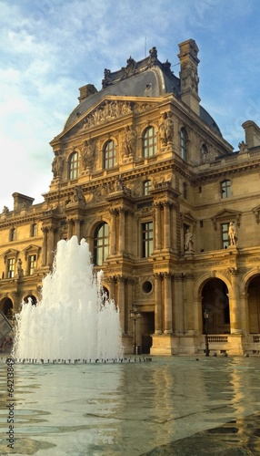 Leinwanddruck Bild Louvre Palace Fountain