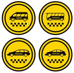 set round taxi icons