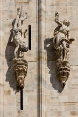 Duomo cathedral of Milan - facade detail