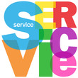 """SERVICE"" Letter Collage (help hotline customer information)"