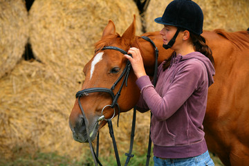 Woman and her horse
