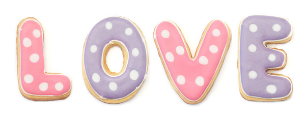 Dotted LOVE Cookies