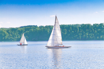 Sailing on lake Bodensee