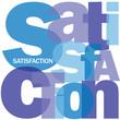"""Mosaïque de Lettres """"SATISFACTION"""" (qualité service client avis)"""