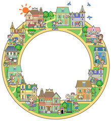 Circle of the town