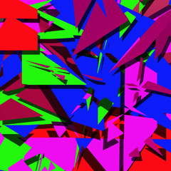Multicolored abstract of angular shapes