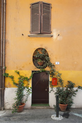 House front in Bologna Italy