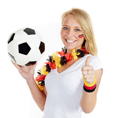 Girly soccer fan wants to win