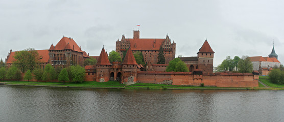 Crusader castle Malbork in Poland