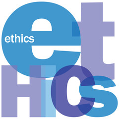 """ETHICS"" Letter Collage (moral values code of conduct integrity)"
