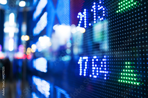 Display of Stock market quotes - 64219255