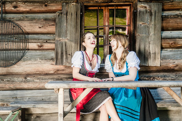 Cheerful Women in Dirndl