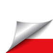 Poland Country Flag Turning Page