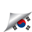 South Korea Country Flag Turning Page