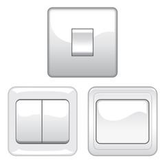 Switches on white
