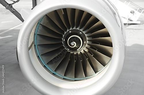 Papiers peints Avion à Moteur Jet turbine
