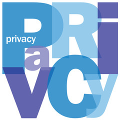 """PRIVACY"" Letter Collage (data protection policy personal users)"