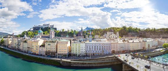 Panorama view of Salzburg, Austria