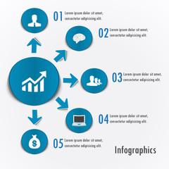 Infographics vector design template sticker #4