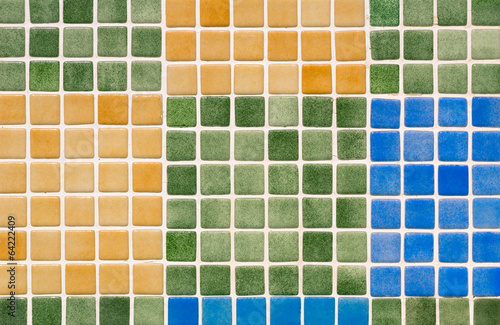 Multicolored glass tiles mosaic - Colorful blocks background