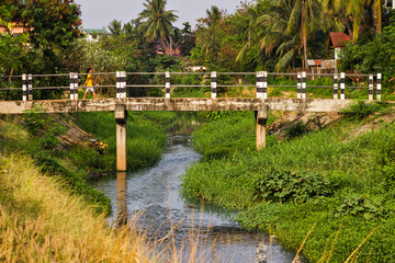 Bridge in Vientiane, Laos