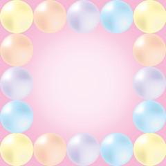 Pearls Frame(pink)
