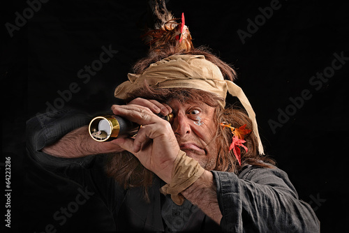 Leinwandbild Motiv Pirat