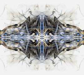 Digital composite of smoke images
