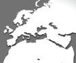 Cartina Europa medio oriente e Africa, planisfero