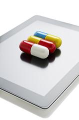 Pill on a digital tablet