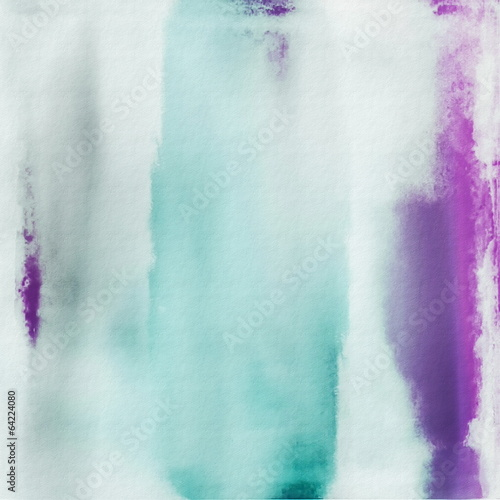 Abstract colorful watercolor background, grunge paper texture - 64224080
