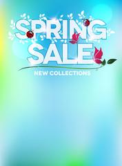 Spring sale blue fresh design