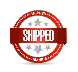 shipped seal illustration design
