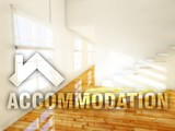 Accommodation apartment creative conceptual illustration poster