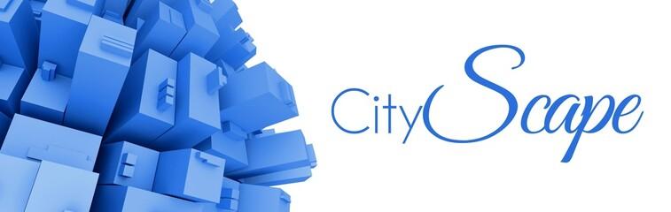 3d Cityscape creative illustration