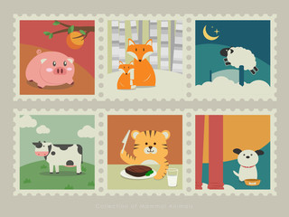 Stamps of mammal animals-3