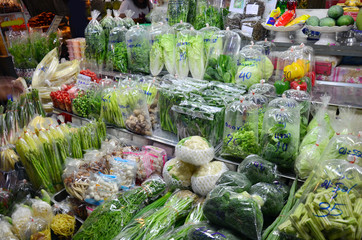 Greengrocery or Vegetables & Fruit Shop in Don wai Float Market