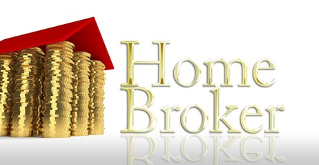 Home broker, house made ??of coins
