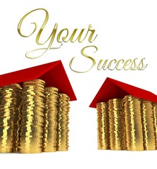 Your success houses made ??of coins