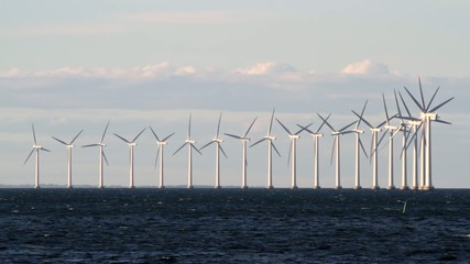 Wind power generators on sea